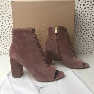 Joie open toe booties